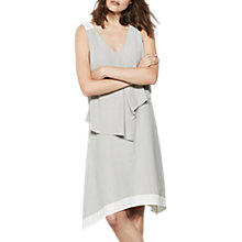 Buy Mint Velvet Dove Asymmetric Layer Dress, Light Grey/Ivory Online at johnlewis.com