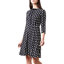 Buy Hobbs Ariela Dress, Navy/Ivory Online at johnlewis.com