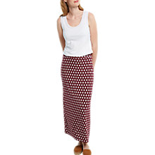 Buy White Stuff Tribal Jersey Maxi Skirt, Desert Red Online at johnlewis.com