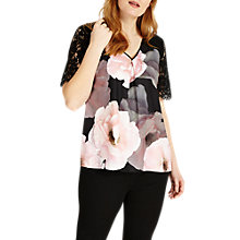 Buy Studio 8 Abby Top, Black/Pink Online at johnlewis.com