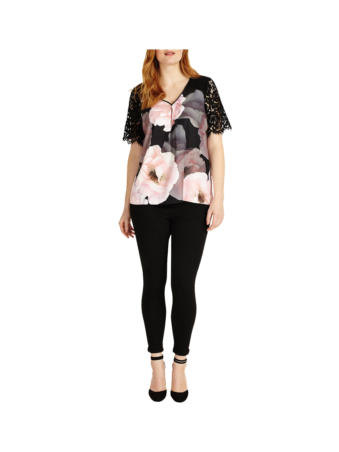 BuyStudio 8 Abby Top, Black/Pink, 12 Online at johnlewis.com