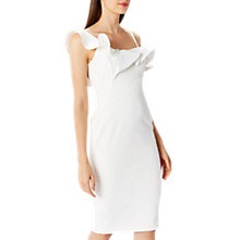 Buy Coast Clancy Ruffle Shift Dress, Ivory Online at johnlewis.com