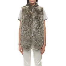 Buy Whistles Sheepskin Gilet, Brown Online at johnlewis.com