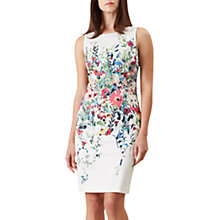 Buy Hobbs Fiona Dress, Ivory/Multi Online at johnlewis.com
