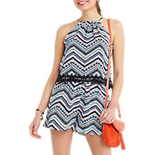 Buy Oasis Aztec Print Playsuit, Multi Online at johnlewis.com
