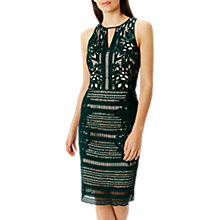 Buy Coast Pamela Lace Shift Dress, Green Online at johnlewis.com