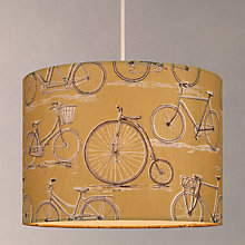 Buy Voyage Bicycles Cylinder Lampshade, Sulphur Online at johnlewis.com
