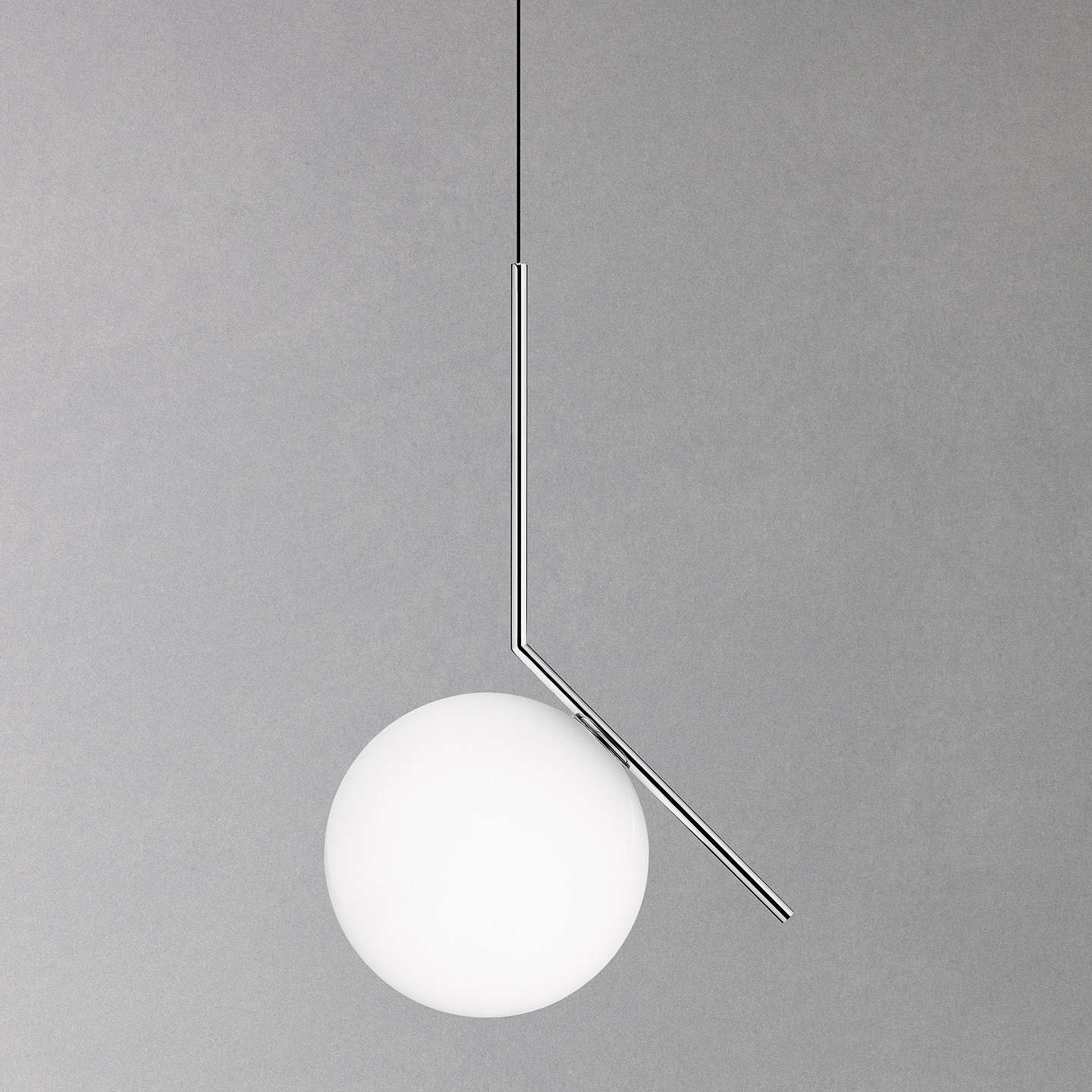 Flos ic s1 ceiling light 20cm polished chrome at john lewis buyflos ic s1 ceiling light 20cm polished chrome online at johnlewis mozeypictures Images