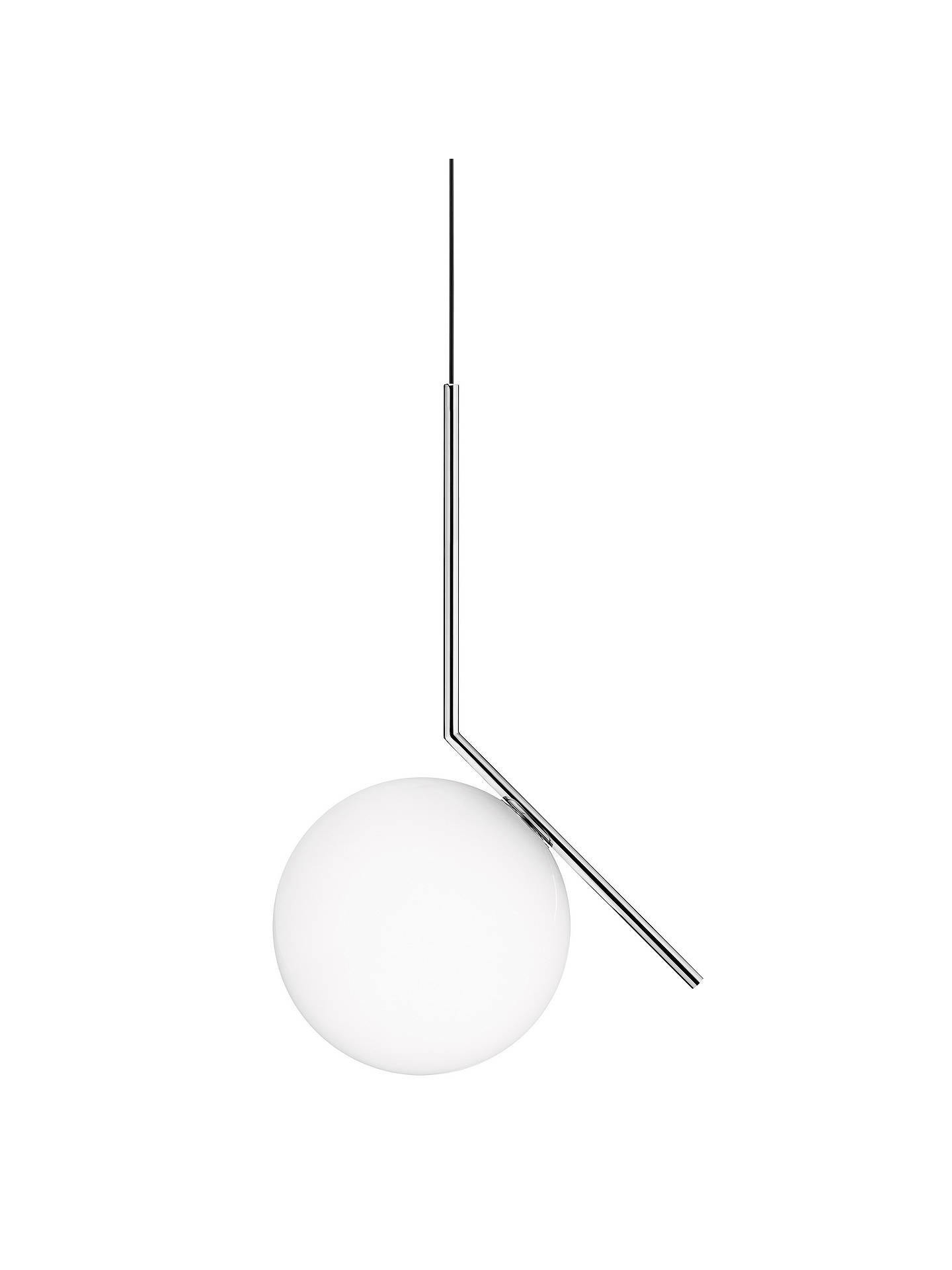 BuyFlos IC S1 Ceiling Light, 20cm, Polished Chrome Online at johnlewis.com