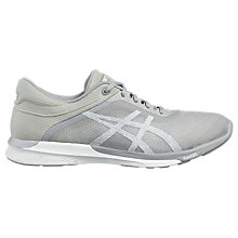 Buy Asics fuzeX Women's Running Shoes, White/Silver Online at johnlewis.com