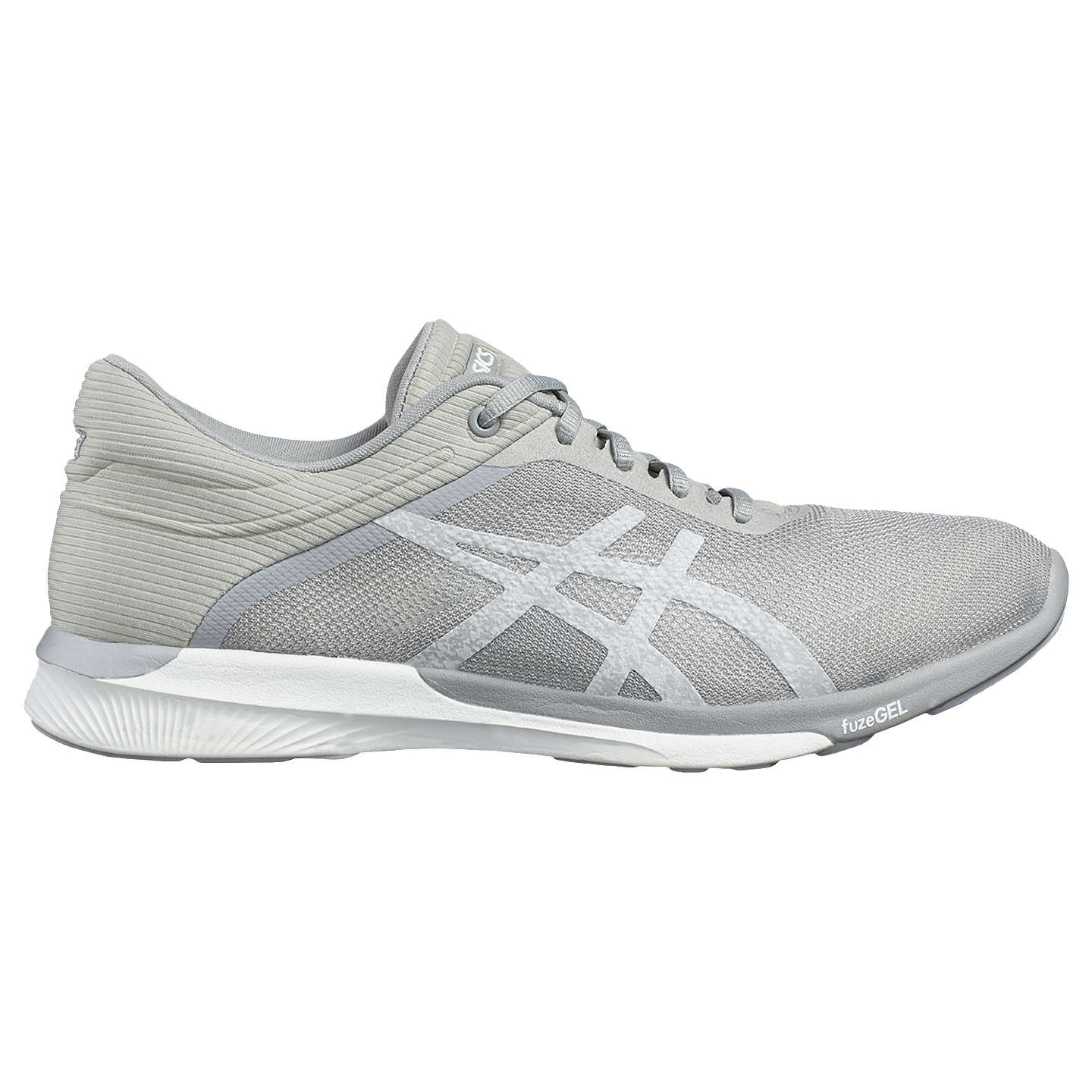BuyAsics fuzeX Women's Running Shoes, White/Silver, 4 Online at  johnlewis.com