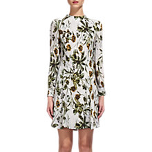 Buy Whistles Marina Silk Flippy Dress, Multi Online at johnlewis.com