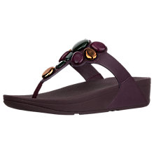Buy FitFlop Honeybee Jewelled Toe Post Sandals, Purple Online at johnlewis.com