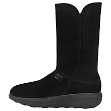 Buy FitFlop Supercrush Mukluk Calf High Boots, Black Suede Online at johnlewis.com