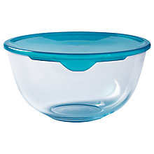 Buy Pyrex Prep and Store Glass Bowl with Lid, Clear Online at johnlewis.com