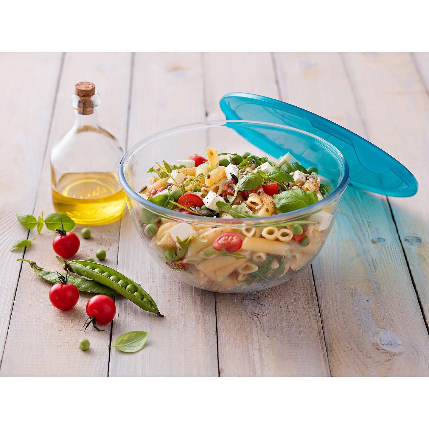 BuyPyrex Prep and Store Glass Bowl with Lid, Clear, 1L Online at johnlewis.com