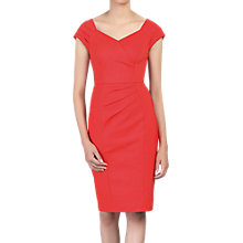 Buy Jolie Moi Crossover Front Ruched Dress, Red Online at johnlewis.com