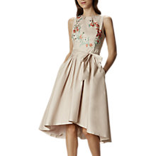 Buy Karen Millen Embroidered Full Skirt Dress, Pale Pink Online at johnlewis.com