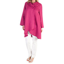 Buy Chesca Embroidered Collar Linen Coat, Raspberry Online at johnlewis.com