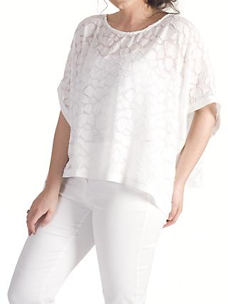 Chesca Pebble Burnout Top