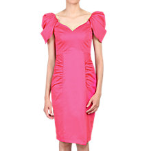 Buy Jolie Moi Structured Shoulder Ruched Dress, Pink Online at johnlewis.com