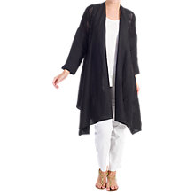 Buy Chesca Mesh Trim Linen Coat Online at johnlewis.com