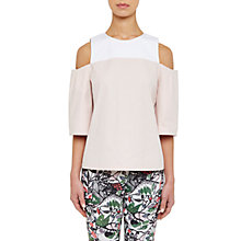 Buy Ted Baker Colour by Numbers Divna Cut Out Cold Shoulder Top, Nude Pink Online at johnlewis.com
