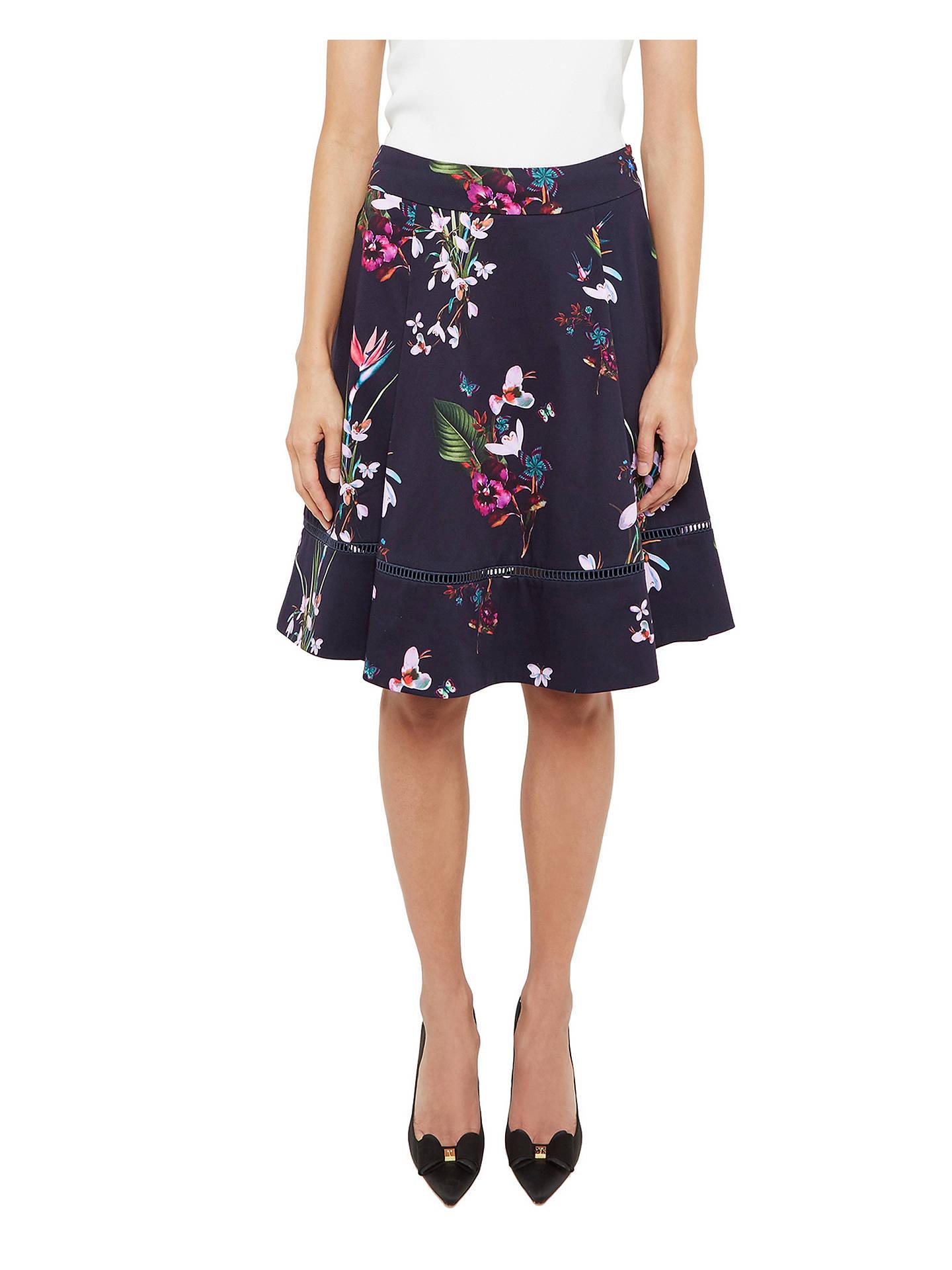 4c2259572 Buy Ted Baker Plio Tropical Oasis Dipped Hem Skirt