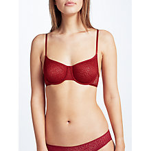 Buy DKNY Modern Lace Balcony Bra, Garnet Online at johnlewis.com