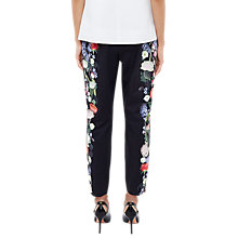 Buy Ted Baker Baynar Ankle Grazer Trousers, Black/Multi Online at johnlewis.com