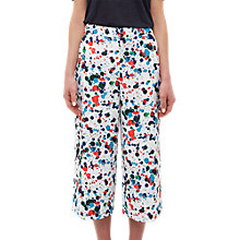 Buy Ted Baker Colour By Numbers Kayaa Wide Leg Angle Grazer Trousers, Ivory/Multi Online at johnlewis.com
