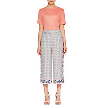 Buy Ted Baker Colour By Numbers Kalid Geo Floral Print Wide Leg Trousers, Mid Grey Online at johnlewis.com
