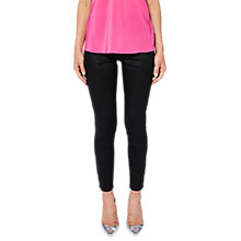 Buy Ted Baker Dalilah Wax Coated Skinny Denim Jeans, Black Online at johnlewis.com