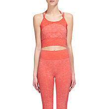 Buy Whistles Halter Crop Sports Bra, Coral Online at johnlewis.com