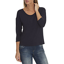 Buy Betty & Co. Three-Quarter Sleeve Jersey Top, Sapphire Online at johnlewis.com