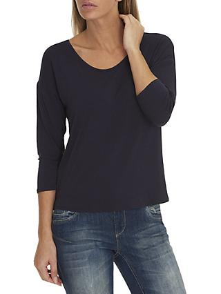 Betty & Co. Three-Quarter Sleeve Jersey Top, Sapphire