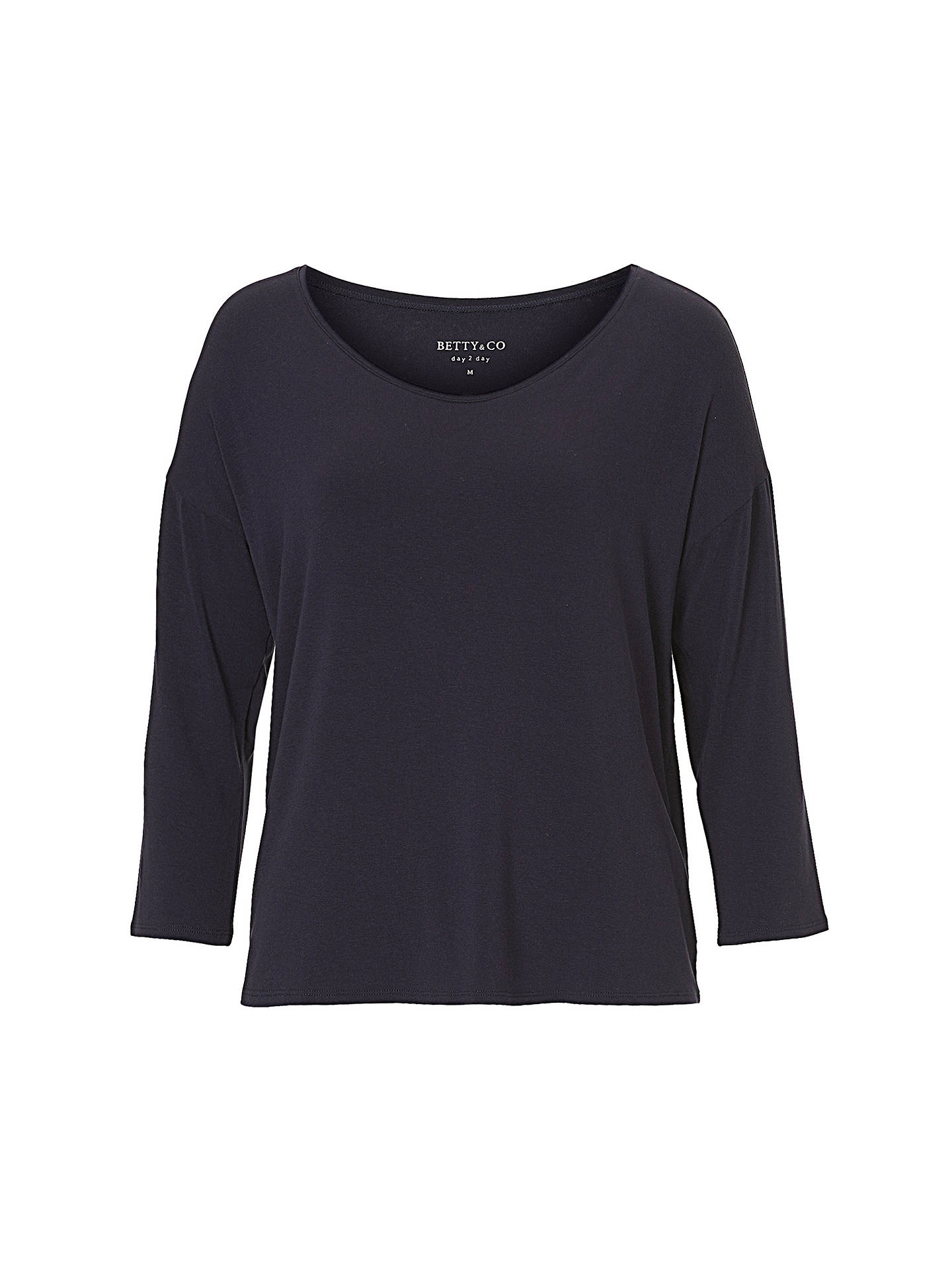 BuyBetty & Co. Three-Quarter Sleeve Jersey Top, Sapphire, S Online at johnlewis.com