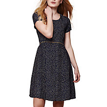 Buy Yumi Nordic Dash Print Dress, Navy Online at johnlewis.com