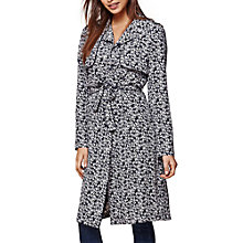 Buy Yumi Floral Trench Coat, Dark Blue Online at johnlewis.com