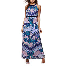 Buy Yumi Chevron Scarf Print Maxi Dress, Cobalt Blue Online at johnlewis.com