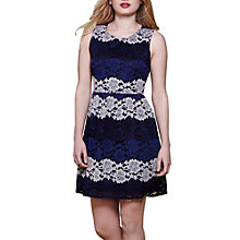 Buy Yumi Lace Skater Dress, Navy/Cream Online at johnlewis.com