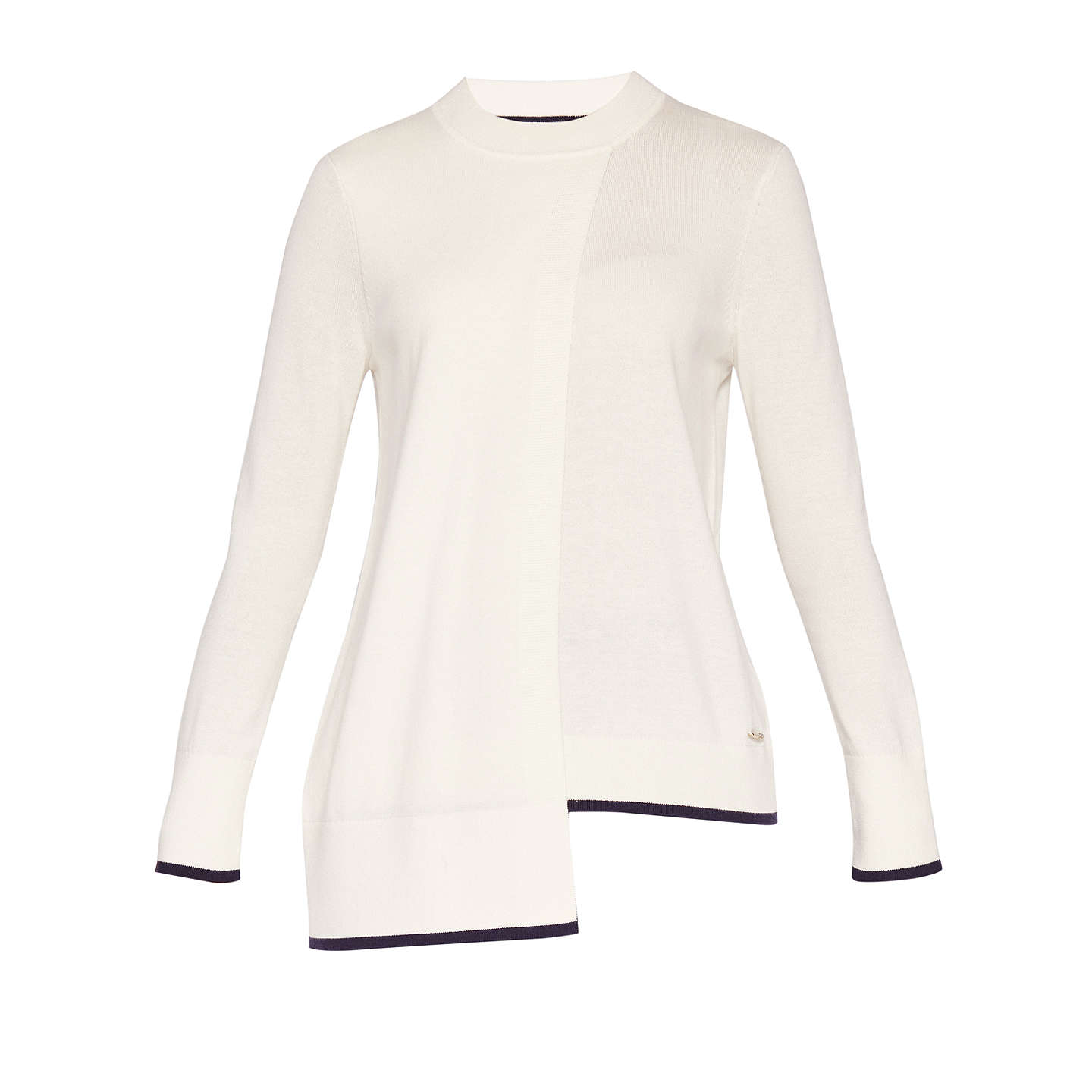 BuyTed Baker Colour By Numbers Ginati Crossover Jumper, Ivory, 0 Online at johnlewis.com