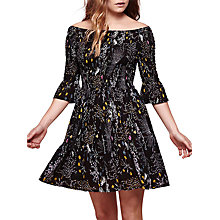 Buy Yumi Floral Shearing Dress, Black Online at johnlewis.com