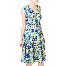 Buy Precis Petite Floral Print Wrap Dress, Yellow/Multi Online at johnlewis.com