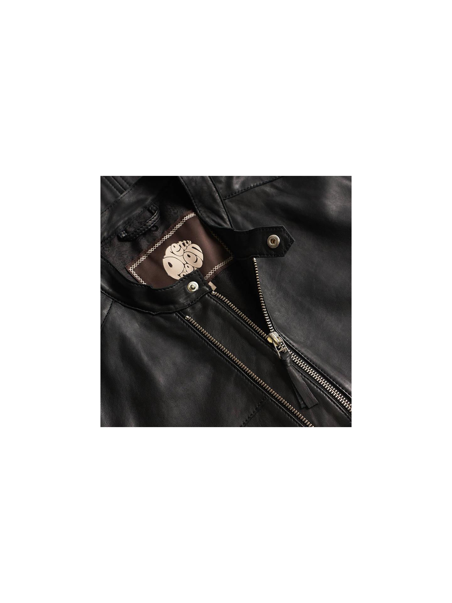 ... BuyPretty Green Burridge Leather Biker Jacket 86aec1983eb1