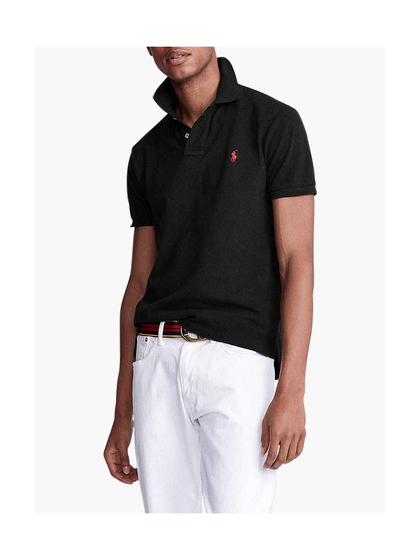 buy online 3d990 98369 Polo Ralph Lauren Short Sleeve Slim Fit Polo Shirt, Polo Black
