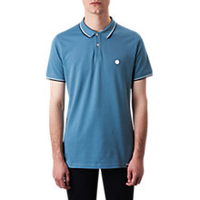 Buy Pretty Green Barton Tipped Polo Shirt, Light Blue Online at johnlewis.com