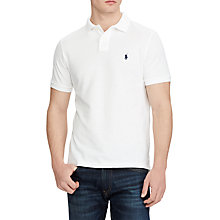 Buy Polo Ralph Lauren Short Sleeve Custom Slim Polo Shirt Online at johnlewis.com
