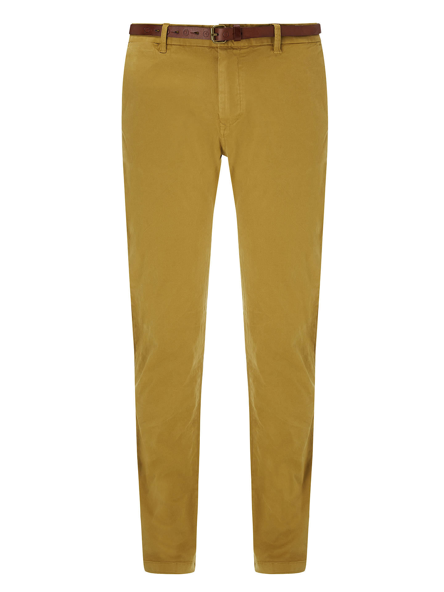BuyScotch & Soda Slim Fit Cotton Chinos, Walnut, 30R Online at johnlewis.com
