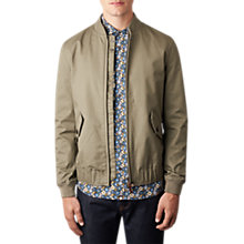 Buy Pretty Green Ambrose Bomber Jacket, Khaki Online at johnlewis.com